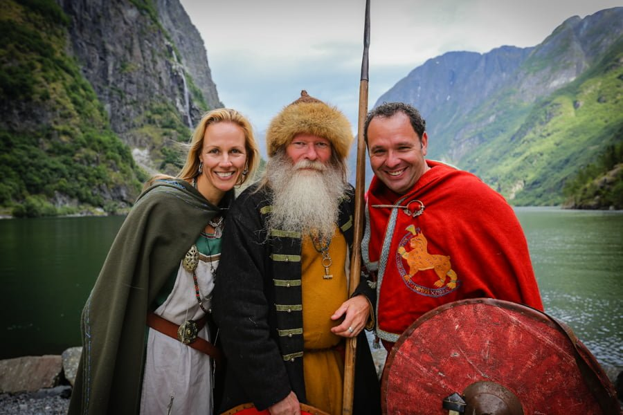 Vikinger på båt