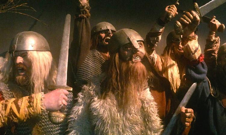 Vikinger som kjemper